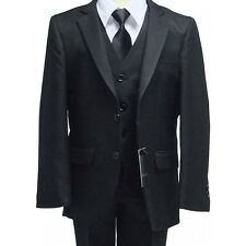 Boys Black Wedding Suit Boy Formal Dress Wear Prom Party Suits Pageboy Funeral