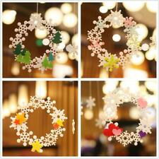 Snoflake Wreath Heart Star Felt Adhesive Wedding Party Home Decorations