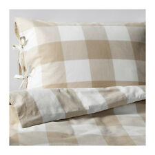 Amazing Ikea EMMIE RUTA Duvet cover and pillowcase(s), beige, white