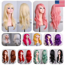 Fashion Women 13-color Full Wig Halloween Long Curly Heat Resistant Cosplay Hair