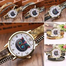 New Women Fashion Casual Artificial Leather Band Round Dial Quartz Watch LM