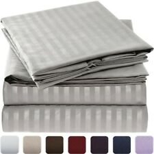 NEW Mellanni Striped Bed Sheet Set - HIGHEST QUALITY 1800 Brushed Microfiber