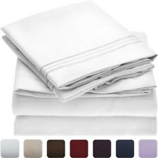 NEW Mellanni Luxury Flat Bed Sheet - FULL - Quality 1800 Brushed Microfiber