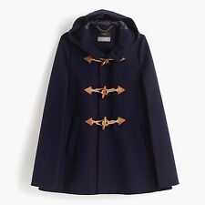 J. Crew Toggle Wool Cashmere Cape Coat - XXS/XS, S/M - Navy, Heather Gray