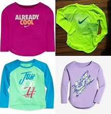 GIRLS NIKE SIZE 6 and 6X ~ LONG SLEEVE DRI-FIT TOPS ~ 4 Brand New ~ $112 Retail