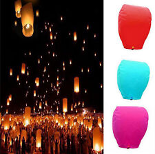 Hot Chinese Sky Lanterns Floating Flying Paper Lantern Party/Wedding 9 Colors