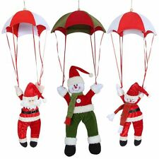 Christmas Hanging Tree Ornament Decoration Santa Claus Snowman Parachute Gift