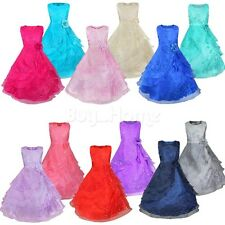 Flower Girl Wedding Bridesmaid Formal Dress Kids Pageant Recital Ball Gown Dress