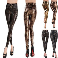 Fashion Hot Sexy Women's Skinny Faux Leather High Waist Stretch Pants Leggings