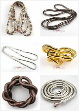 Women Fashion Mixed Bendy Flexible Snake Chains Necklace/Bracelet 90cm