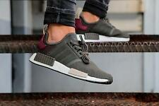 ADIDAS NMD R1 BA7752 ULTILITY GREY/MAROON BRAND NEW SIZES 3,4,5,6,7 AVAILABLE