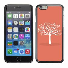 Hard Phone Case Cover Skin For Apple iPhone White Tree With Leaves