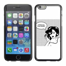 Hard Phone Case Cover Skin For Apple iPhone Retro Woman Comics Style Design