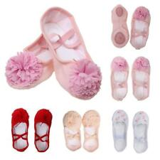 Soft Girl Canvas Leather Ballet Yoga Shoes Dance Full Sole Leather Shoes Elastic