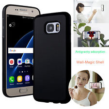 Anti Gravity Nano Suction Sticky Selfie Phone Case Cover For iPhone Samsung