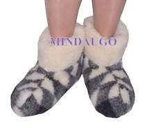 US/CA WOMEN SIZES. SHEEP WOOL SLIPPERS BOOTIES 100% PURE WOOL. Ladies sizes.