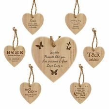 Personalised Chunky Wooden Heart, Mother's Day, Birthdays, Weddings, New Home