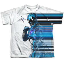 POWER RANGERS - Blue Streak Sublimation 100% Poly YOUTH T-Shirt S-XL