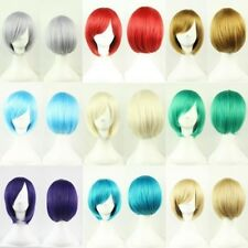 Short Straight Wigs Cosplay Wigs Synthetic Hair Bob Blonde Full Face Wig