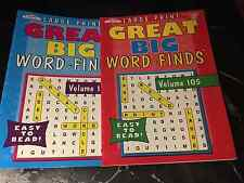 2 NEW GREAT BIG  WORD FINDS~ LARGE PRINT ~ Word Search  ~ Kappa