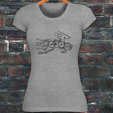 CYCLING HORSE BIKE ROAD MOUNTAIN BICYCLE RACE Womens Gray T-Shirt