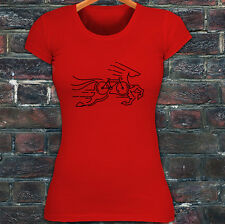 CYCLING HORSE BIKE ROAD MOUNTAIN BICYCLE RACE Womens Red T-Shirt