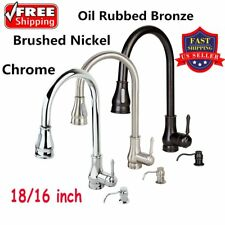 """18"""" 16"""" Kitchen Sink Faucet Pull-Out Spray Swivel Spout Dispenser Modern Style W"""