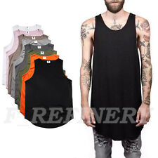 Mens T-Shirt TANK Singlet Cotton Sleeveless Sport Tee Shirts Plain Colors