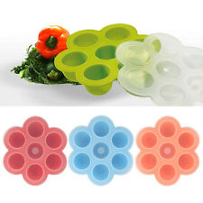 7 Cubes Baby Weaning Food Storage Freezing Pots Tray Freezer Containers BPA Free