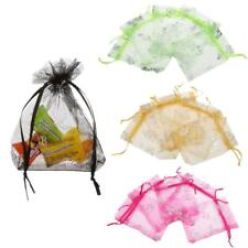 50pcs Butterfly Organza Jewelry Gifts Candy Pouch Drawstring Bags Wedding Party