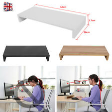 Wooden Monitor Stand LED LCD Computer Screen Monitor Riser Desk Organizer Home