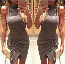 New Womens Stylish Sleeveless Slim Hip Party Sexy Party Shoulder Dress