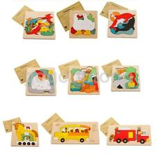 Set of Creative Wood Multilayer 3D Jigsaw Puzzle Game Kids Childs Fun Wooden Toy