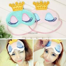 Women Cute Print  Eye Cover Goggles Comfort Sleep Masks Night Soft Blindfold OK