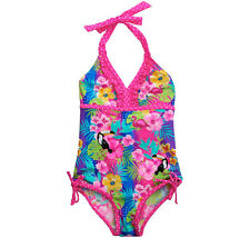 Big Chill Girls Tropical One-Piece Swimsuit Size 7-8 New with Tags