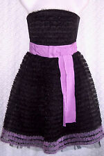 """New~ ALANNAH HILL $449 Black Tulle """"Princess"""" PARTY DRESS Formal FROCK~ Size 8"""
