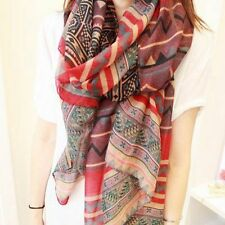 Graceful Retro For Women Voile Soft Silk Scarf Beach Shawl Scarves Bohemian