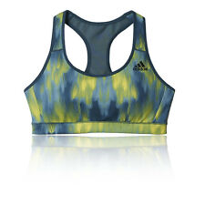 Adidas Womens Green Blue Climacool Racerback Running Sports Bra Support Top