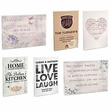 Personalised Wall Canvas, Birthdays, Wedding Gift, New Home Gifts