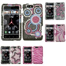For Motorola Droid Razr Maxx Diamond Diamante Bling Rhinestone Case Cover
