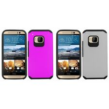 For HTC One M9 Slim-Grip Shockproof 2-Piece Hard Case Cover