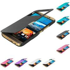 For HTC One M9 Wallet Magnetic Flip Hard Closing Slim Case Cover Accessory