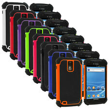 For Samsung T-Mobile Galaxy S2 Hercules T989 Hybrid Rugged Hard/Soft Case Cover