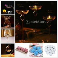 Assorted Glass Candle Holder Candlestick Tealight Stand Church Home Decor Gifts