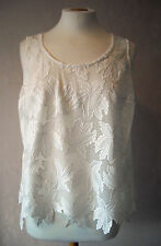 NEW - M&S - size 8 - lovely White/ Ivory ladies LACE TOP/ tunic - BNWoT