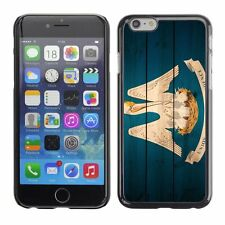 Hard Phone Case Cover Skin For Apple iPhone Louisiana Flag US State Wood effect