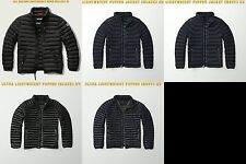 NWT MENS ABERCROMBIE & FITCH LIGHTWEIGHT DOWN PUFFER JACKET OUTERWEAR A&F