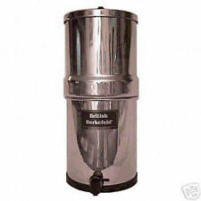 "British Berkefeld, SS Big Berkey,  w/ four 9"" sterasyl ceramic filters"