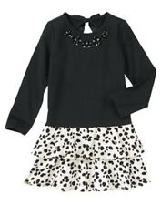 NWT Gymboree Black Dalmation Knit dress Fancy Dalmation SZ 3 4 Girls
