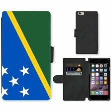 Phone Card Slot PU Leather Wallet Case For Apple iPhone solomon National Flag